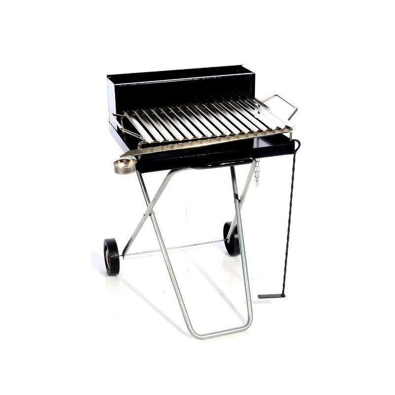 Barbecue Piegh 80x80cm Griglia Cromata Per Carbonella Legna