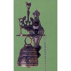 Campana 16cm ottone angelo campanella campanello supporto