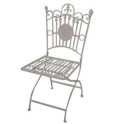 Sedia da giardino poltrona ferro stemma liberty casa esterno