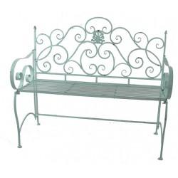 Panchina da giardino esterno ferro verde liberty panca divanetto