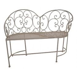 Panchina panca divanetto panchetta romantico ferro giardino