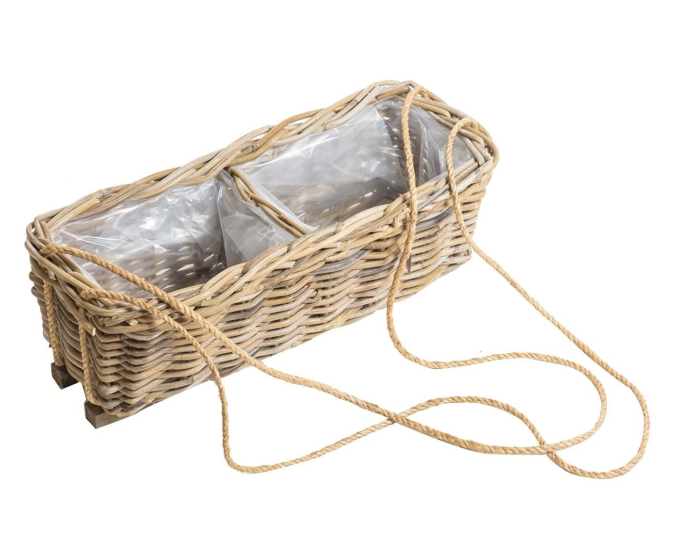 Plafoniere Vimini : Portafiori portavaso 60cm porta vaso fiori rattan vimini