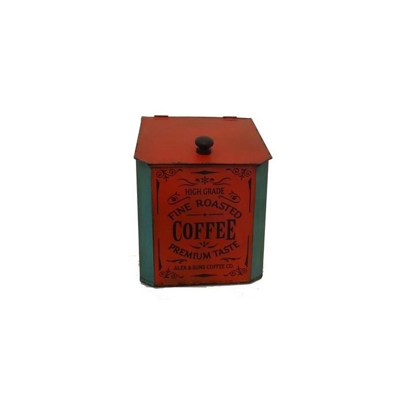 Scatola rosso porta caffé capsule contenitore vintage