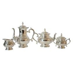 Servizio té 4 pezzi argento silver lattiera teiera zuccheriera