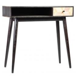 Scrittoio tavolino legno cassetto industrial moderno retrò