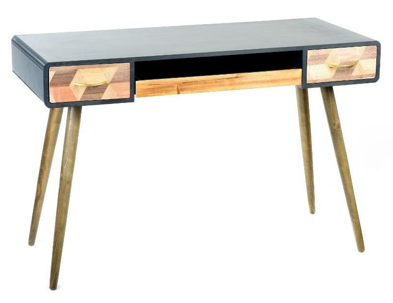 Scrittoio tavolino legno cassetti industrial retrò vintage ...