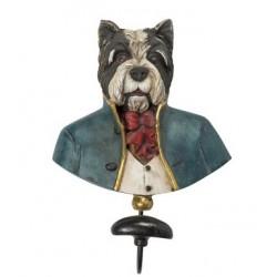 Appendiabiti busto cane parete muro appendi abiti old england