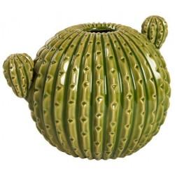 Cactus tondo vaso ceramica soprammobile 18 cm