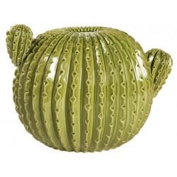 Cactus tondo vaso ceramica soprammobile 37cm