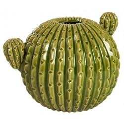 Cactus tondo vaso ceramica soprammobile 28cm