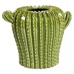 Cactus vaso ceramica soprammobile 22cm
