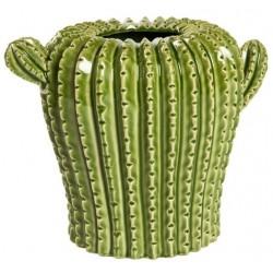 Cactus vaso ceramica soprammobile 27cm
