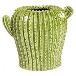Cactus vaso ceramica soprammobile 34cm