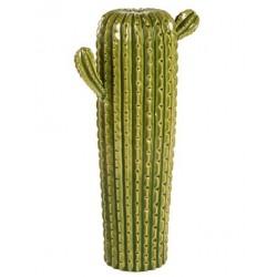 Cactus verticale vaso ceramica soprammobile 40cm