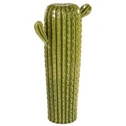 Cactus verticale vaso ceramica soprammobile 50cm