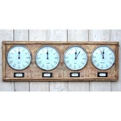 Orologio da parete a 4 quadranti vintage stile shabby