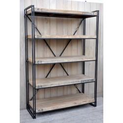 Libreria in ferro battuto e legno in stile industrial archivio