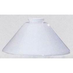 Paralume 15cm vetro cono bianco ricambio lampada lampadario