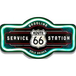 Targa in metallo Route 66 gasoline stazione di servizio