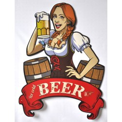 Targa pannello insegna placca metallo Beer October fest