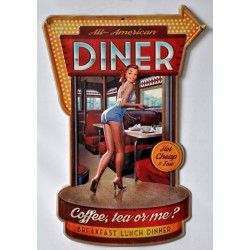 Targa in latta sexy diner insegna metallo tavola calda