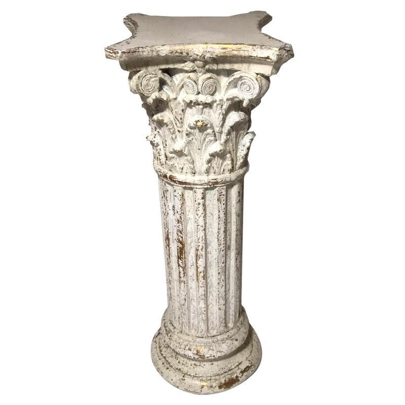 Alzatina colonnina stile antica Grecia decorativa 92cm