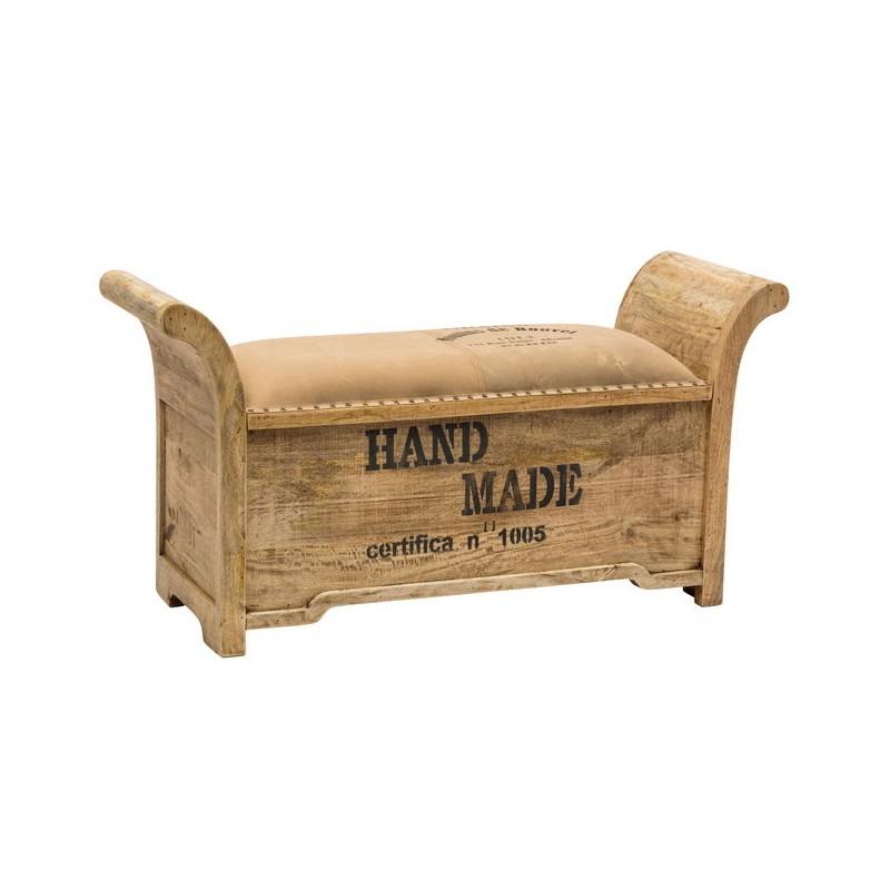 Panchetta divanetto legno imbottitura cotone 120cm