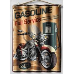 Targa in metallo moto gasoline vintage americana