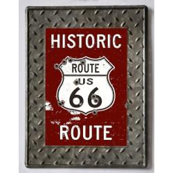 Targa pannello insegna placca Route 66 industrial
